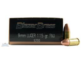 CCI Blazer Brass 9mm 115gr FMJ Ammuniton 50rds