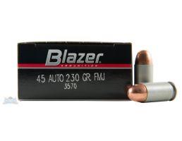 CCI Blazer 45 Auto/ACP 230gr FMJ Aluminum Cased Ammunition 50rds - 3570