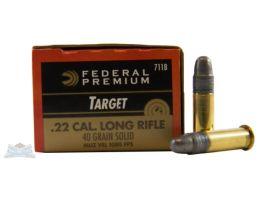 Federal 22 Long Rifle 40gr Solid Sub-Sonic Gold Medal Ammunition 50rds - 711B