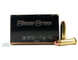 CCI Blazer Brass 38 Special 125gr FMJ Ammunition 50rds - 5204