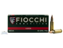 Fiocchi 4.6x30mm 40gr FMJ Ammunition 50rds - 46EXA