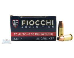 Fiocchi .25 ACP 35gr XTP 50 Rounds Ammunition - 25XTP