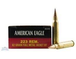 American Eagle 223 62gr FMJ Ammunition 20rds - AE223N