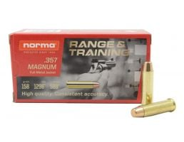 Norma Range and Training 158 gr FMJ .357 Magnum Ammunition 50 Rounds