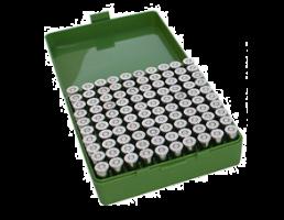 MTM FlipTop Ammo Box 41/44rem 45LC-Green-100rd-P-100-44-10