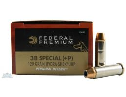 Federal 38 Special+P 129gr Hydra-Shok Ammunition 20rds - P38HS1