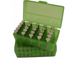 MTM FlipTop Ammo Box 10mm 40S&W 45-Bright GRN-50rd-P50-45-16