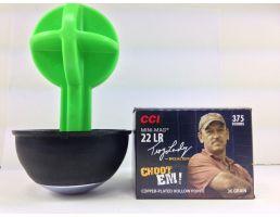 """CCI .22LR Mini Mag """"Choot Em"""" 36gr 375rd 0961 & Champion Duraseal Wobble Target 44884"""