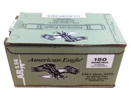 American Eagle 5.56 62 grain m855 ammo 150 rounds