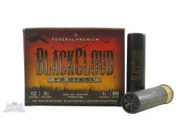 """Federal 12ga 3.5"""" 1.5oz BB Black Cloud Waterfowl Shotshells 25rds - PWB134BB"""