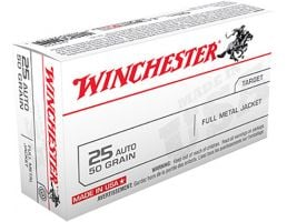 Winchester USA 25 Auto/ACP 50gr FMJ Ammunition 50rds - Q4203