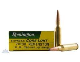 Remington 7mm-08 140gr Core-Lokt PSP Ammunition 20rds - R7M081