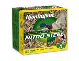 "Remington Nitro Steel 20 Gauge 3"" 1 oz 4 Shot 25 Rounds"