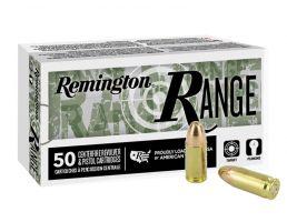 Remington Range 124 gr FMJ 9mm Ammunition, 50 Rounds