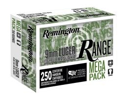 Remington Range Mega Pack 115 gr FMJ 9mm Ammunition 250 Rounds