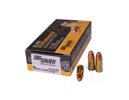 Sig Sauer 9mm 147gr FMJ Elite Ball Ammunition 50rds - E9MMB3-50