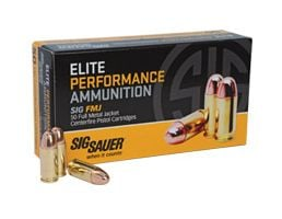 Sig Sauer 9mm 115gr FMJ Elite Ball Ammunition 50rds - E9MMB1-50