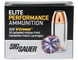Sig Sauer 44 Magnum 240gr JHP V-Crown Elite Performance Ammunition 20rds - E44MA1-20