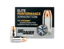Sig Sauer 357 SIG 125GR V-Crown JHP Ammunition, 50 rounds - E357S1-50