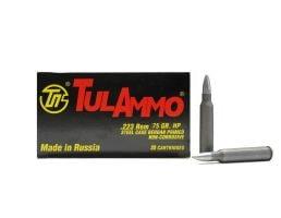 Tula 223 Remington 75gr HP Steel Cased Ammunition 20rds - TA223675