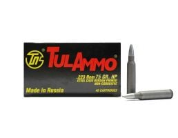 Tula .223 Remington 75gr HP Steel Cased Ammunition (40rds) - TA223754