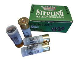 """Case of Sterling 2.75"""" 1 3/16oz 00 Buckshot 12 Gauge Ammunition, 200 Rounds"""