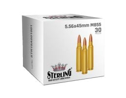 Sterling 5.56x45mm M855 Ammunition 30 Rounds
