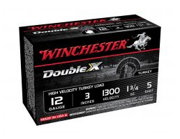 "Winchester Double X Turkey 12ga 3"" 1-3/4oz #5 Copper Plated, 10 Shotshells - STH1235"