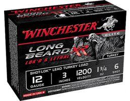 "Winchester 12ga 3"" #6 Long Beard XR Ammunitiion 10rds - STLB1236"