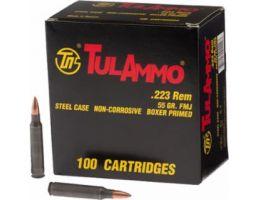 Tula 223 Remington 55gr FMJ Steel Cased Ammunition 100rds - TA223100