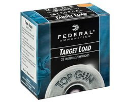 "Federal 12ga 2.75"" 3DE 1-1/8oz #8 Top Gun Shotshell Ammunition 25rds - TG12 8"