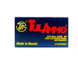 Tula 223 Remington 62gr HP Steel Cased Ammunition (40rds) - TA223623