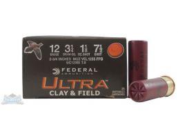 """Federal 12ga 2.75"""" #7.5 Ultra Clay & Field Shotshell Ammunition 25rds- - -UC12SI 7.5"""