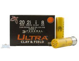 """Federal 20ga 2.75"""" #8 Game Load Shotshell Ammunition 25rds - UC20SI 8"""