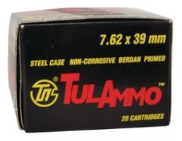 Tula 7.62x39mm 124gr HP Steel Case Ammunition 40rds - UL076211