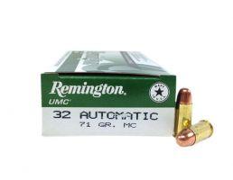 Remington UMC 32 Auto/ACP (7.65mm) 71 MC Ammunition 50rds - L32AP