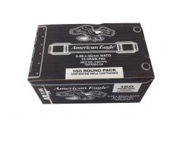 5.56 Rifle Ammo american eagle 5.56mm 55 grain FMJ ammo a150 rounds