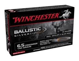 Winchester Ballistic Silvertip 140 gr Polymer Tip 6.5 Creedmoor Ammunition 20 Rounds