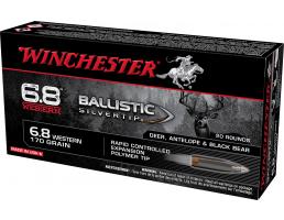 Winchester Ballistic Silvertip 6.8 Western Ammo BTHP 170 GR 20rds