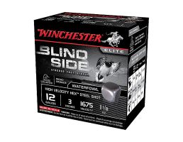 "Winchester Blind Side 3"" 3 Shot 1 1/8 oz HV 12 Gauge Ammunition 25 Rounds - SBS123HV3"