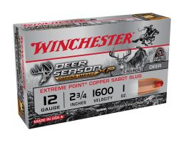 "Winchester Deer Season 2.75"" 1 oz 12 Gauge Sabot Slug 5 Rounds"