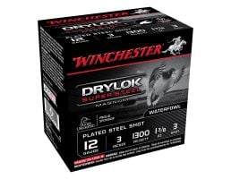 "Winchester Drylok Super Steel Magnum 3"" 1 3/8 oz 3 Shot 12 Gauge Ammunition 25 Rounds"