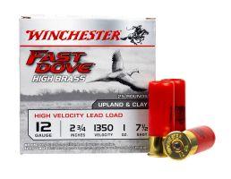 """Winchester Fast Dove High Brass 2.75"""" 1 oz 7.5 Shot 12 Gauge Ammunition, 25 Rounds"""
