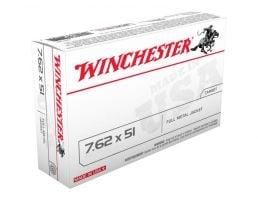 Winchester M80 149 gr FMJ 7.62x51 Ammunition 20 Rounds