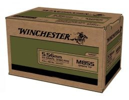 Winchester M855 62 gr FMJ 5.56x45mm Ammunition 1000 Rounds