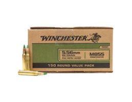 Winchester M855 62 gr Green Tip FMJ 5.56x45mm Ammunition 150 Rounds