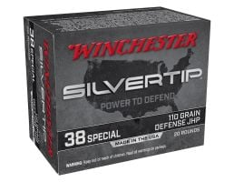 Winchester Silvertip 110 gr JHP .38 Special Ammunition 20 Rounds
