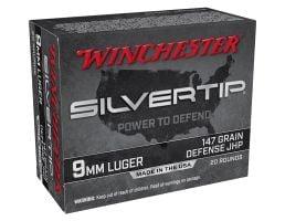 Winchester Silvertip 147 gr JHP 9mm Ammunition 20 Rounds