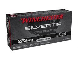 Winchester Silvertip 64 gr Defense Tip .223 Remington Ammunition For Sale