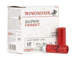 "Winchester Super Target 2.75"" 1 1/8 oz 9 Shot 12 Gauge Ammunition 25 Rounds"